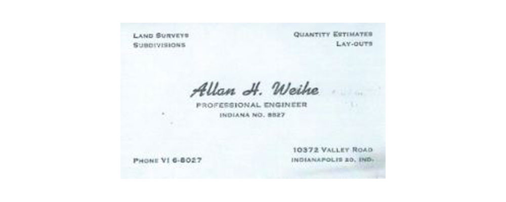 Allan H. Weihe Business Card