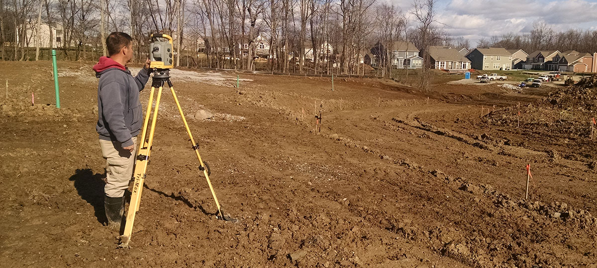 Land Surveying Staking