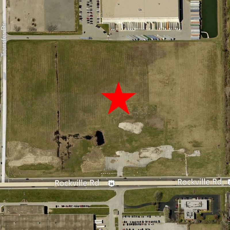 7600 Industrial Building Aerial Location Pre-Construction
