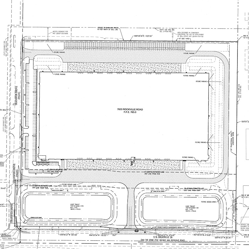 7600 Industrial Building Site Plan