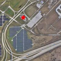 Airport Plazas Aerial Location