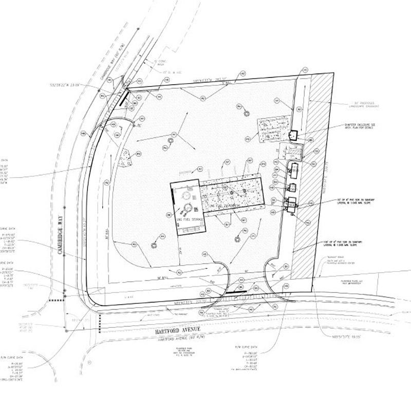Blu Natural Gas Station Site Plan