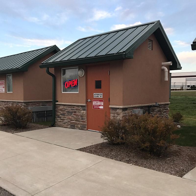 Blu Natural Gas Station building