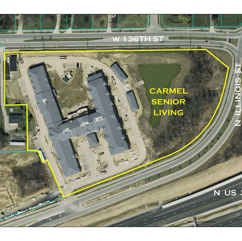 Carmel Senior Living Aerial Location