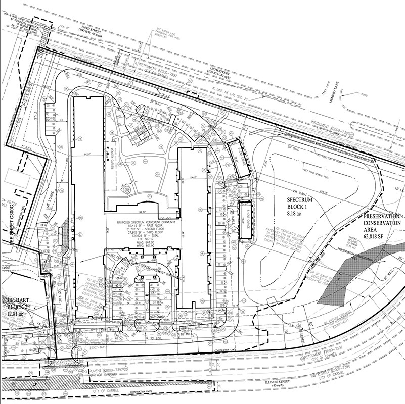 Carmel Senior Living Site Plan