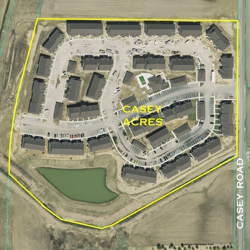 Casey Acres Aerial Location