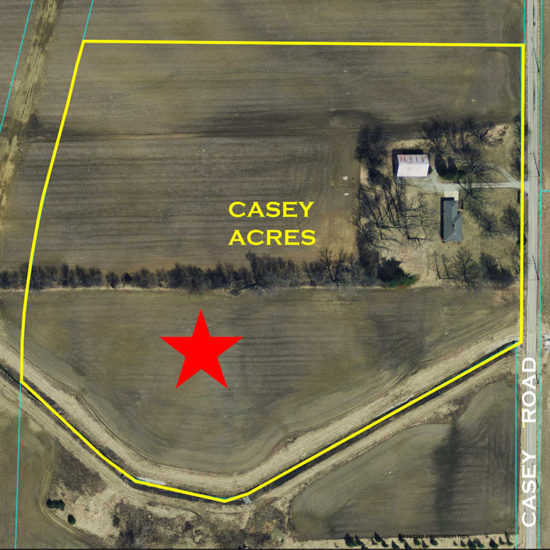 Casey Acres Aerial Location Pre-Construction