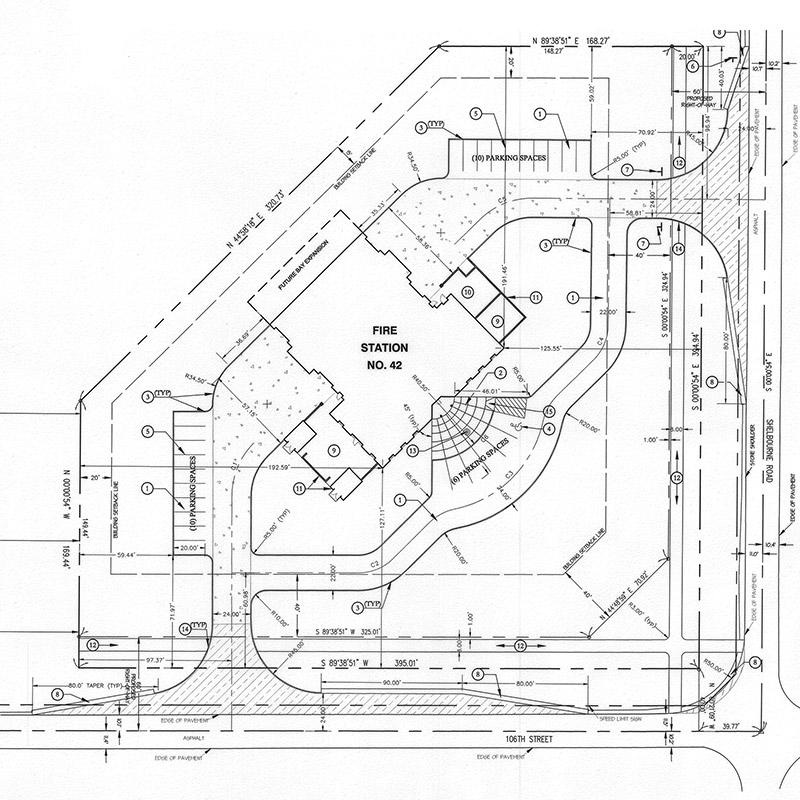 Fire Station 42 Site Plan