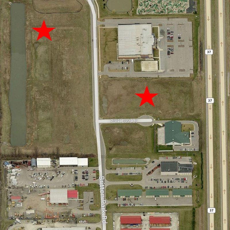 Honda of Fishers Aerial Location Pre-Construction