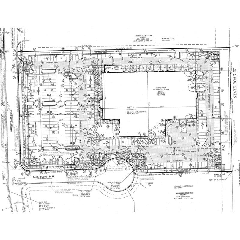 Honda of Fishers Site Plan