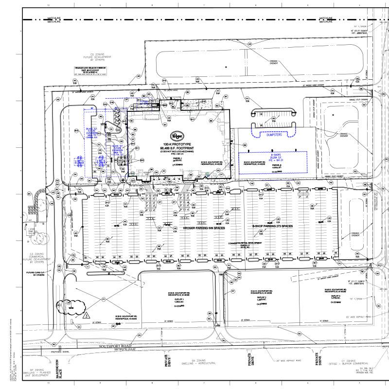 Kroger J989 site plan
