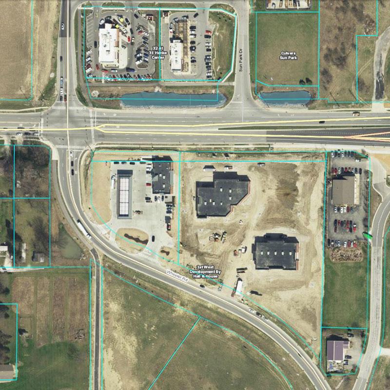 Monon Marketplace Aerial Location
