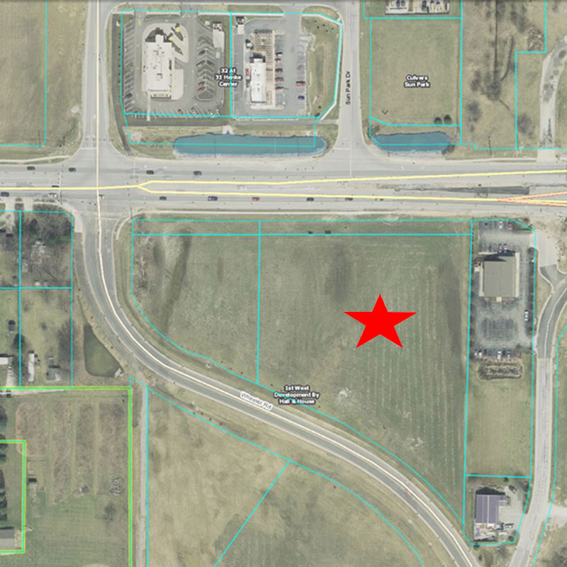 Monon Marketplace Aerial Location Pre-Construction