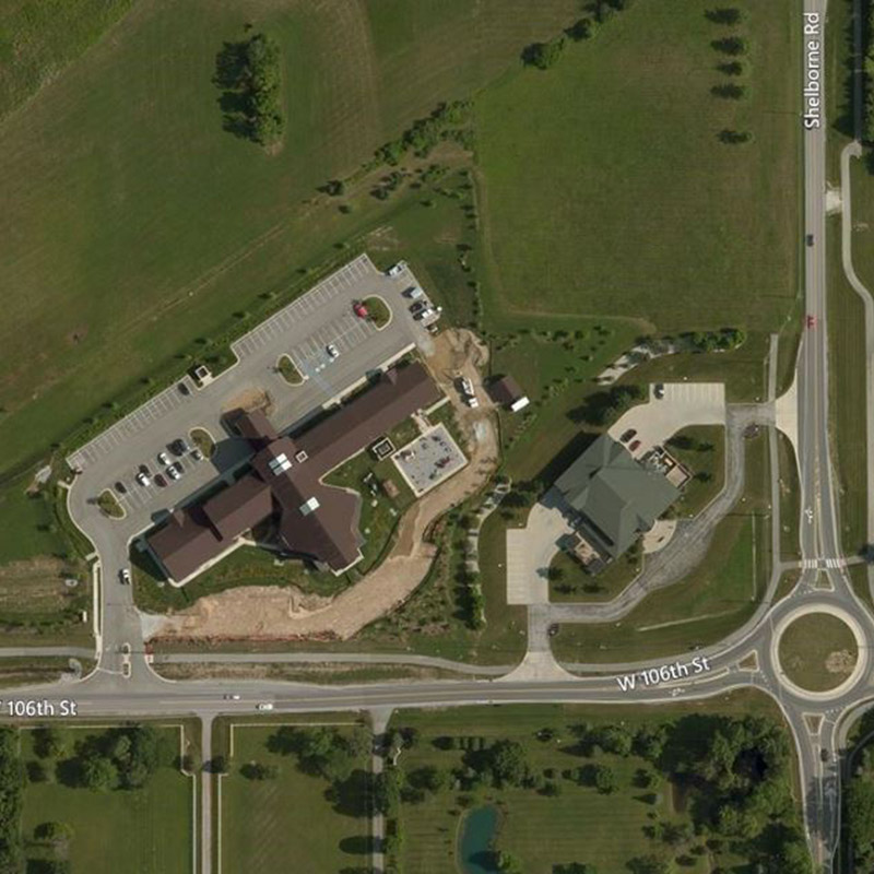Pilgrim Lutheran Church Aerial Location