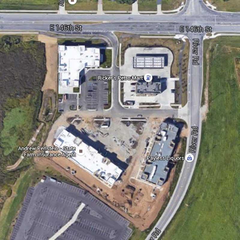 Ricker's at Legacy Aerial Location