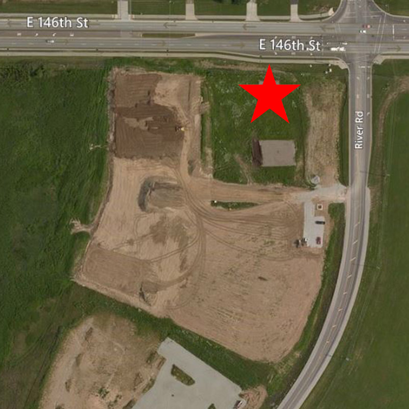 Ricker's at Legacy Aerial Location Pre-Construction