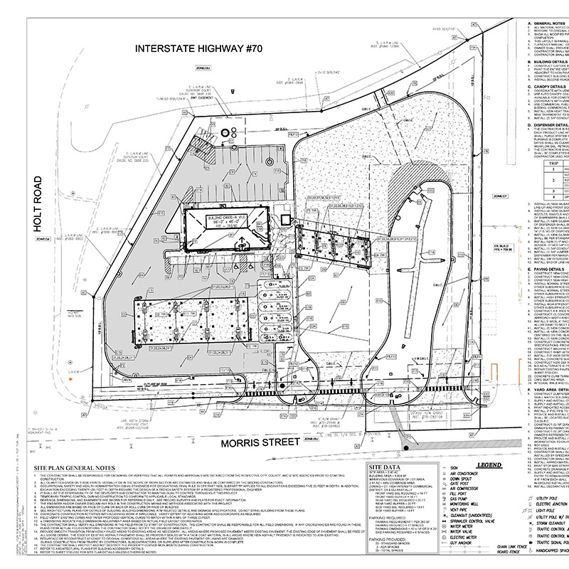 Speedway at I70 & Holt site plan
