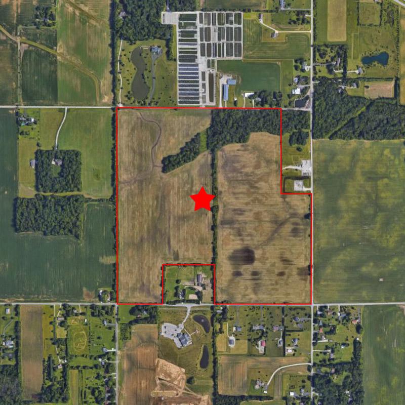 Scofield Farms Pre Construction Aerial Image