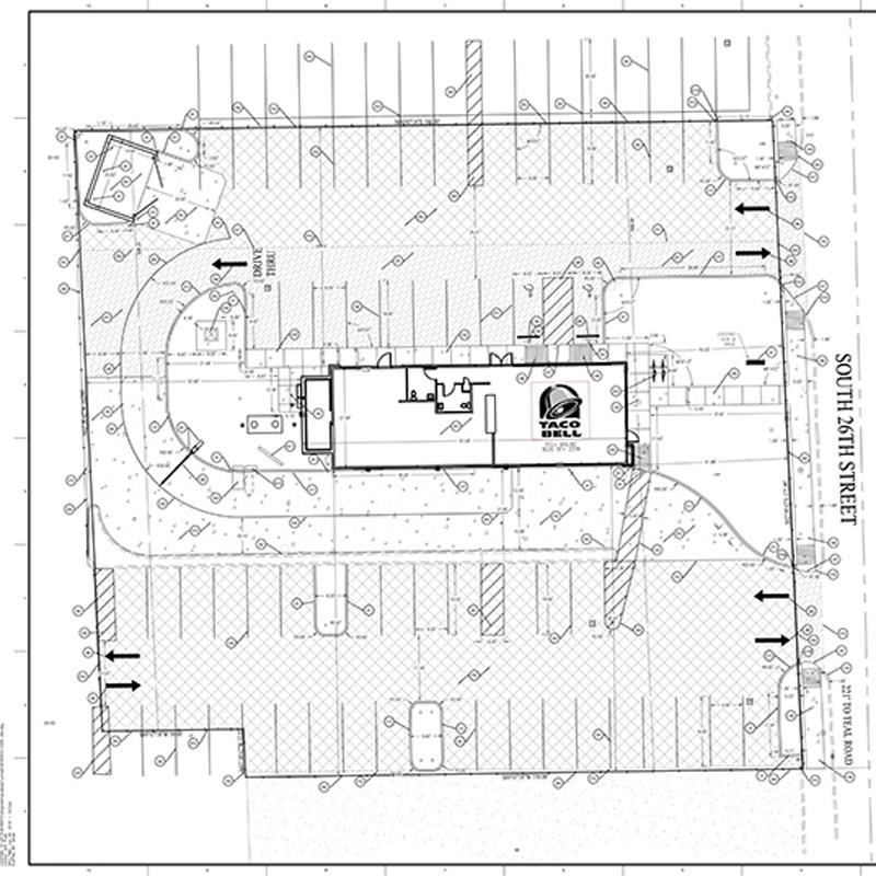 Lafayette Taco Bell Site Plan