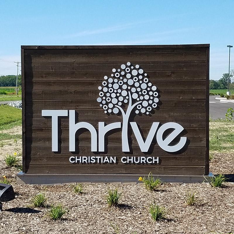 Thrive Church Entrance Sign
