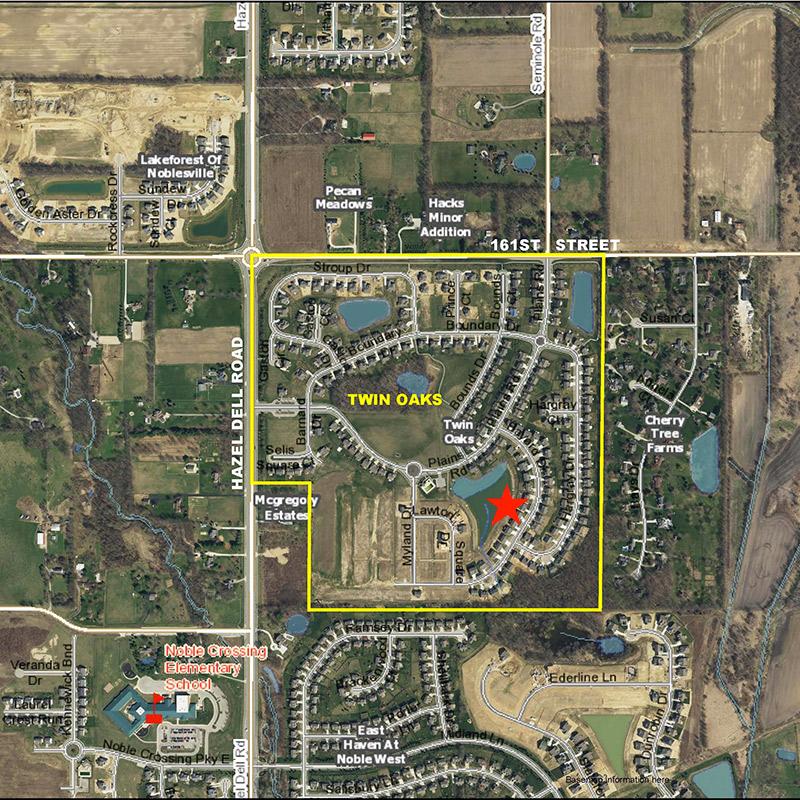 Twin Oaks Aerial Location