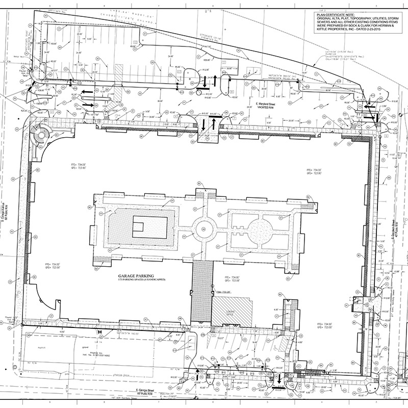 The Vue site plan