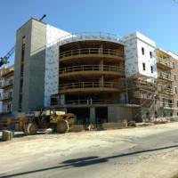 The Vue construction progression photo NE corner