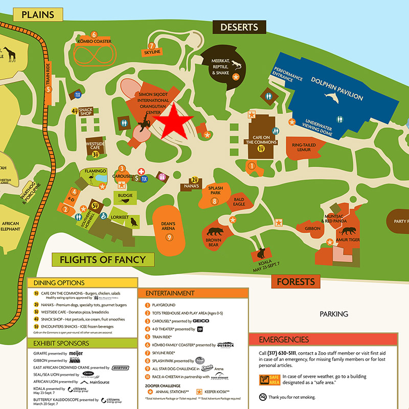 Indianapolis Zoo Map Simon Skjodt International Orangutan Center at the Indianapolis  Indianapolis Zoo Map