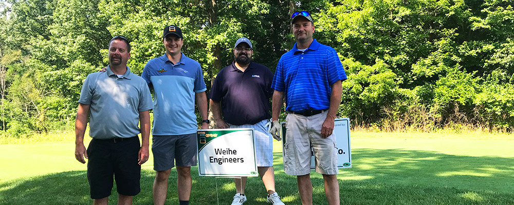 2019 Weihe Engineers foursome for Swing Into Giving